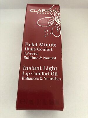 NEW Clarins Instant Light Lip Comfort Oil 03 Red Berry 7ml / 0.1 oz.