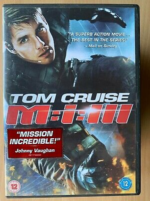 Mission Impossible 3 DVD 2006 M:I III Tom Cruise Spy Thriller Action Film