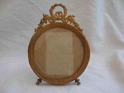 ANTIQUE FRENCH GILT BRONZE BRASS PHOTO FRAME,EMPIRE STYLE LATE 19th CENTURY