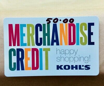 $50 Kohls Physical Gift Card