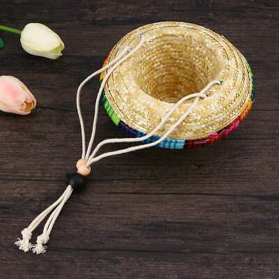 1PC Creative Stylish Funny Dog Sombrero Hat Straw Hat for Cosplay Party Dress Up