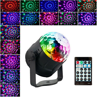 15 Colors Mode Sound Activated Party Lights Disco Ball Projector Home Stage G8N3