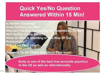 Same Day (Within 1 Hour) Psychic Reading - 1 Question Answered