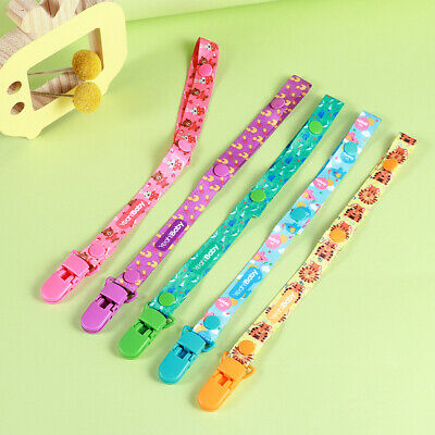Yeahibaby 5PCS Portable Pacifier Clips Chain Solid Stylish Baby Shower Gift
