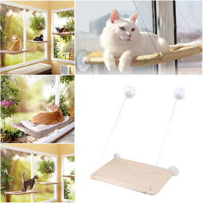 Window Mounted Cat Bed Suction Cup Hanging Pet Sunshine Hammock Perch Cushion