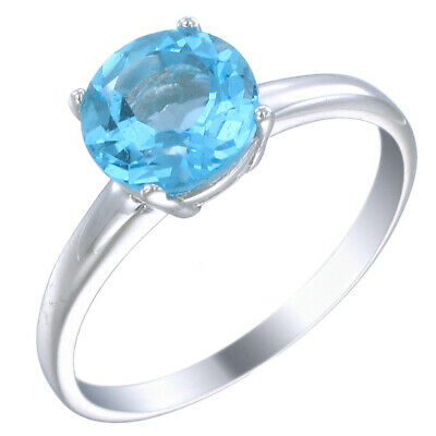 Sterling Silver Swiss Blue Topaz Ring (1.75 CT)