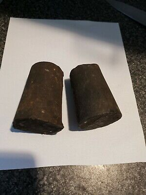 Antique wall Clock Parts 30 hour ogee oge pair weights...... 2, 1/2 kgs  the 2