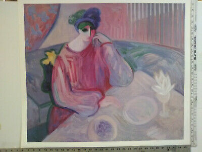 Barbara A. Wood RARE ABSTRACT ARTIST PROOF Hand Signed Print NEVER FRAMED! NM