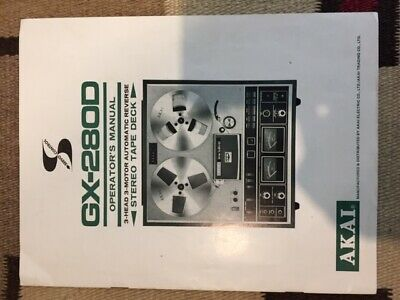 Akai GX-280D Owner's manual with schematic and color brochure