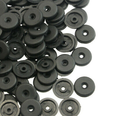8x Seat Belt Buckle Button Holder Stud Retainer Stopper Rest Pin Black for FIAT