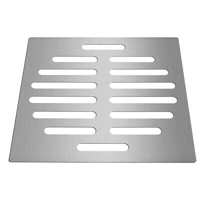 6 Inch Silver Floor Drain Protector Tone Square Shape Stainless Steel Floor Drai
