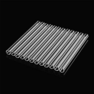 12Pcs 125mm Clear Borosilicate Glass Tube Blowing Pyrex Test Tube OD 10mm 2.2mm