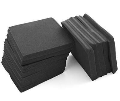 """12x12""""x1"""" Acoustic Wedge Studio Soundproofing Foam Wall Tiles Sound Insulation C"""