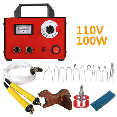 100W 110V Gourd Wood Multifunction Pyrography Tools Machine Heating Wire Pen Kit