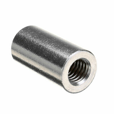M6 20mm Round Connector 304 Stainless Steel Threaded Sleeve Bar Stud Rod Couplin