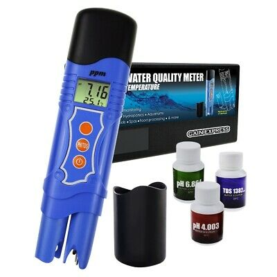 3 In 1 PH TDS Temperature Meter Combo Water Quality Tester Digital Pen-Type With