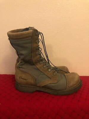 6566611bcae VINTAGE 1960S BLACK Leather US ARMY Cap Toe Combat Military Boots ...
