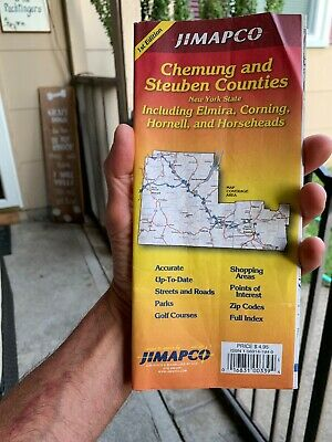 Jimapco Street Map Chemung and Steuben Counties NY