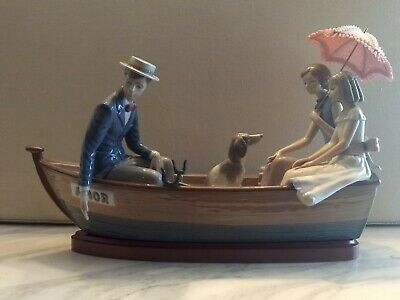 Lladro #5343 Love Boat. Limited Edition Of 3000 Pcs. Retired 1996.