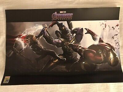 SDCC 2019 Comic Con Avengers Endgame Thanos Poster Marvel Exclusive