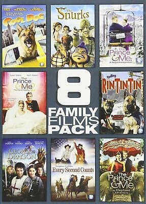 NEW 8 Family Film Pack 2 Disc Set DVD MOVIE COLLECTION PRINCE AND ME 1+2+3 +MORE