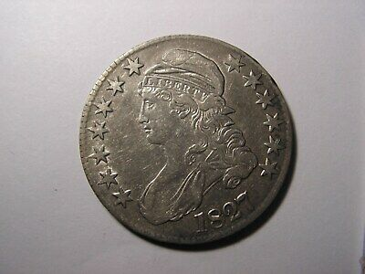 1827 Capped Bust Half Dollar Squair 2,  Looks to Be in VF/XF Condition