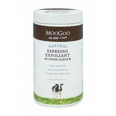 New MooGoo Espresso Exfoliant Coffee Scrub 350g Body & Face Scrub - Moo Goo MDC