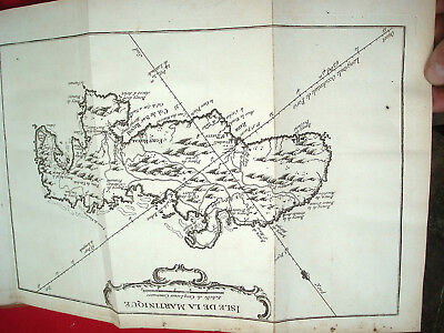 Travel à la Martinique History Natural Manners by Chanvalon 1763 with Map