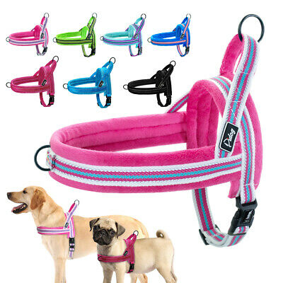 Reflective No Pull Dog Harness Pet Front Leading Clothes Small to Large Dog Vest