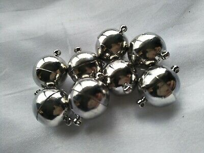 8 x jumbo extra strong magnetic clasp round for jewellery making (m2791)