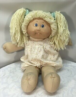 Vintage 1985 Coleco Blonde Cabbage Patch Kid - CPK Outfit