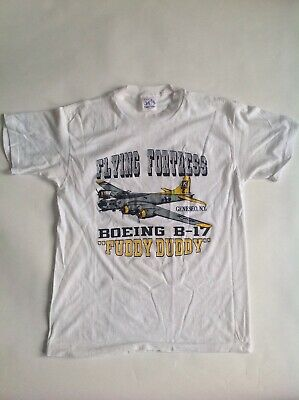 50's Vintage Style Flying Fortress Boeing B17 Fuddy Duddy T-Shirt Supply USA