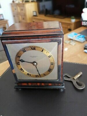 Antique Bracket Clock E. W. GARDENER, PRESTON Buitiful Walnut Time Peice Working