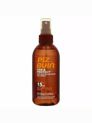 Piz Buin Tan and Protect Intensifying Oil Spray SPF15 150 ml Sun Tanning Bronze