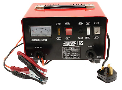 Maypole MP716  12A Metal Battery Charger 12/24V - Red/white