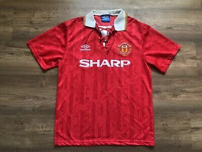 Vintage Manchester United 1992/1994 Home Football Shirt Umbro Size M Adult