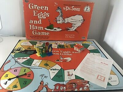 Green Eggs And Ham Board Game Dr Seuss Collectible Vintage Complete 1996