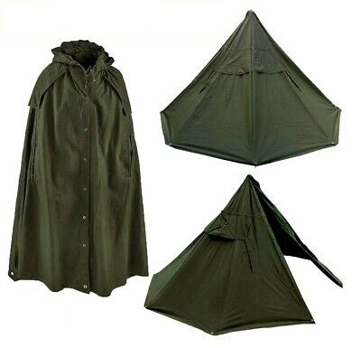 Size 2 New Polish Lavvu teepee shelter tent Set of 2 Canvas Ponchos Warsaw Pact