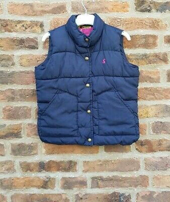 🌺🌼💐🦋 JOULES GIRLS Navy Padded Floral Lined Gilet 5y 🌺🌼💐🦋🌸🌈🔥
