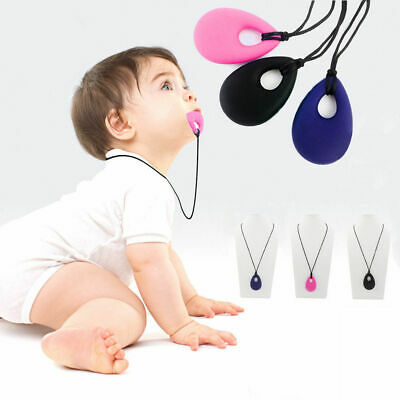 BPA Free Baby Silicone Teething Necklace Safe Kids Teether Nursing Pendant Beads