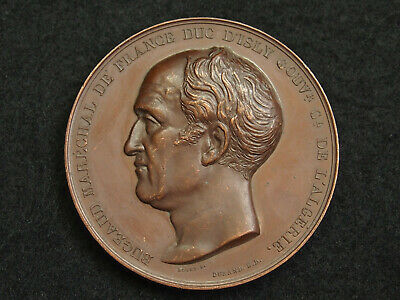 """Medaille Rogat.f. """"Algerie Bataille D'isly 1844 Bugeaud Marechal Louis Philippe"""