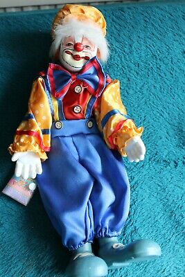 VINTAGE PORCELAIN CLOWN Dolls -15 -Used but in Fair Conditions