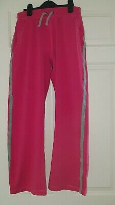 Girls hot pink jogging bottoms George age 13-14 years height 158-164cm