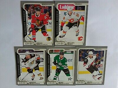 2018-2019 O-Pee-Chee Update Silver Lot Of 7  Cards See List