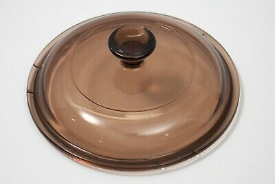 Corning Ware Pyrex Visions Amber Casserole Replacement Lid V1C 1L