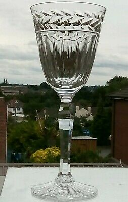 Stuart crystal Senator Goblet - 8 inches Tall - Rim 3 1/2 inches Not Signed