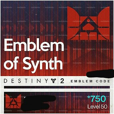 Destiny 2 EMBLEM OF THE SYNTH Emblem Code   CODE IN HAND! PS4 XBOX PC