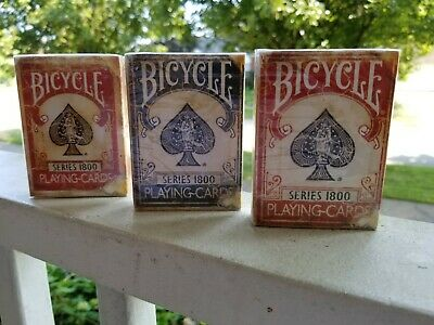 Two Blue Ellusionist Bicycle 1800 series Marked Playing Cards