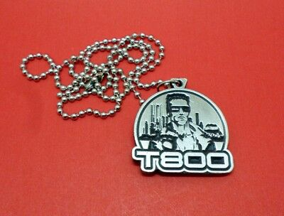 The Terminator T800 Skynet Metal Pendant Necklace 80s Movies Arnold