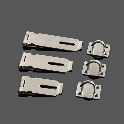 Padlock Clasp Safety Latch Heavy Duty Hasp Staple Cabinet Easy Install